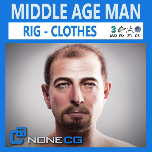 3d middle age male